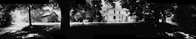 panorama of the Montana Danford Farmstead, Wayne Township, Belmont County, Ohio, USA