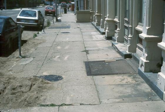 Sidewalk Door Amp Businessmen Blindly Trusting The Building
